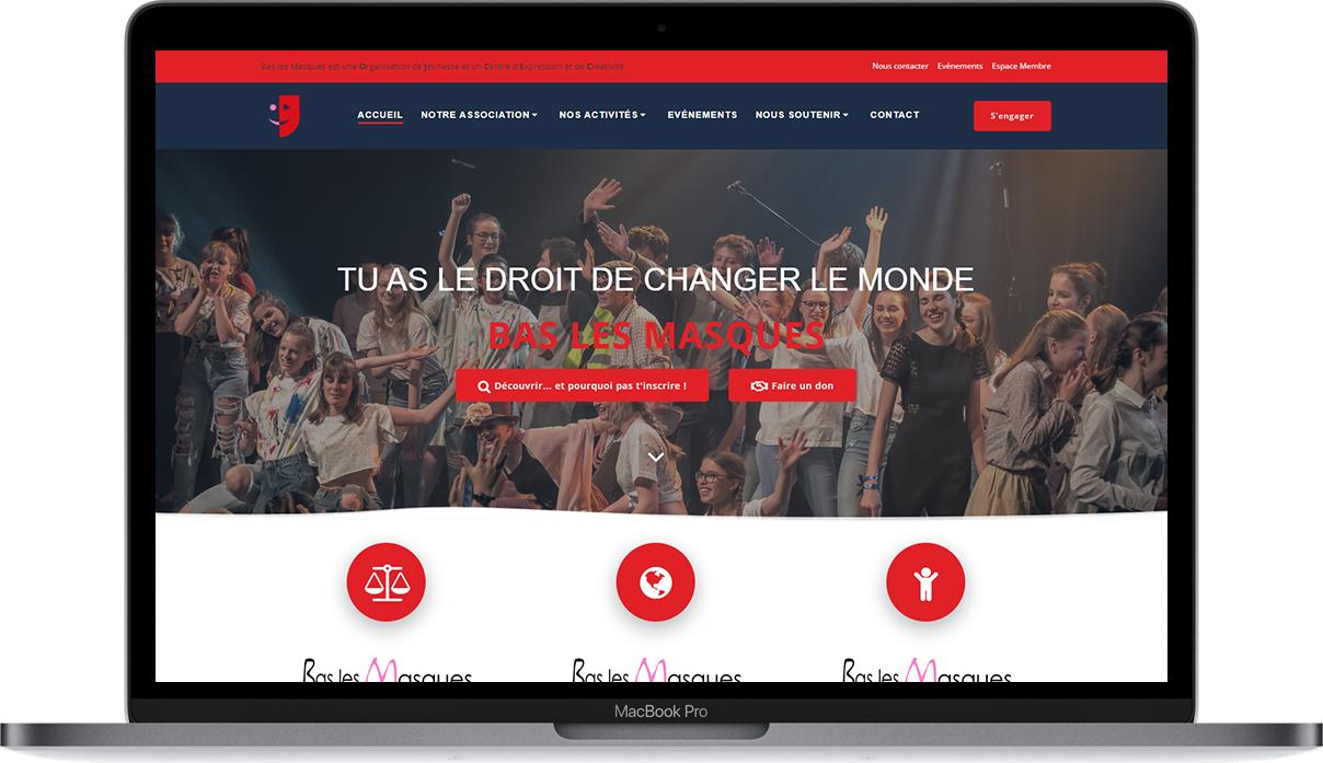 Media Moon - Site web Bas les Masques
